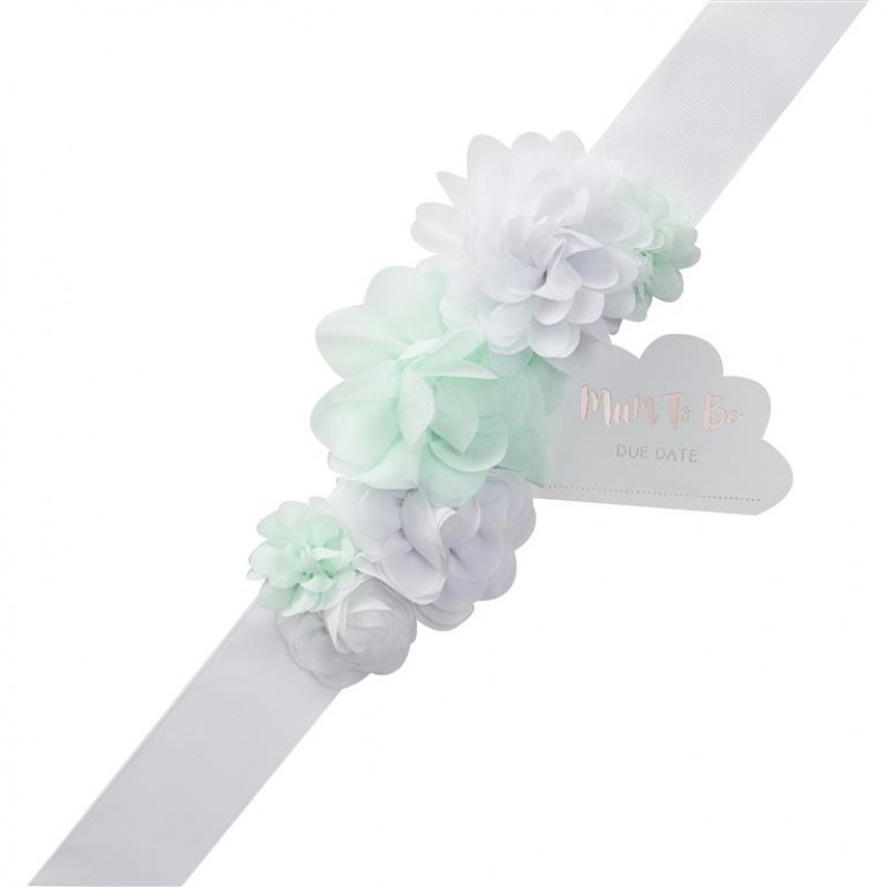 Hello World Ginger Ray Mint /& White Tissue Paper Pom Poms x 5 Pack
