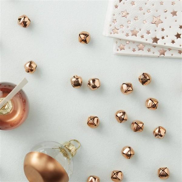 Rose Gold Confetti Bells - Metallic Star