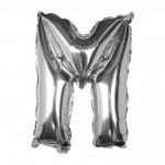 Silver Foil Letter M Balloon - Pick and Mix