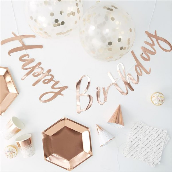 Rose Gold Complete Party In A Box - Ginger Ray