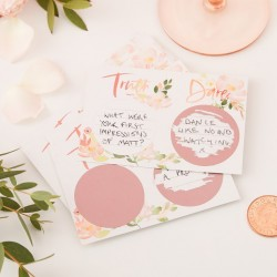 Rose Gold Foiled Truth or Dare Scratch Card Game