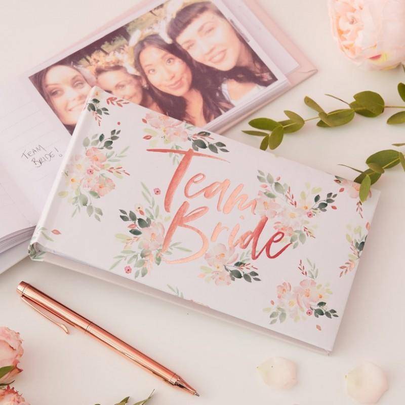 ginger ray Team Bride Floral Paper Napkins Floral Hen Range by