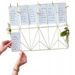 Gold Metal Table Planner Kit - Geometric