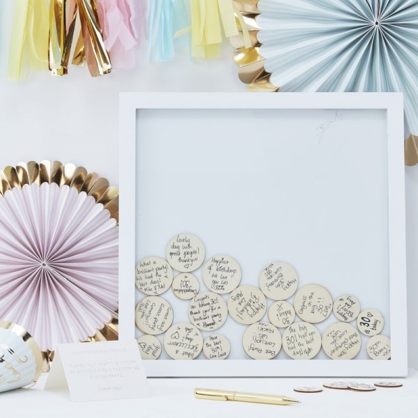 Drop Top Frame - Guest Book Alternative - Pick and Mix