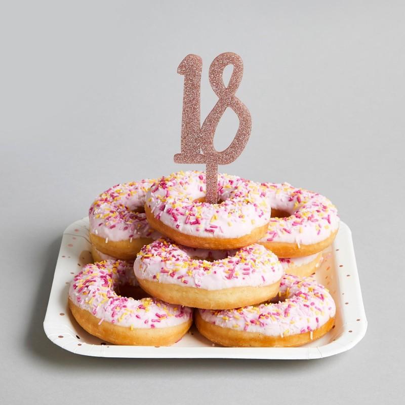 Strange Rose Gold Glitter Acrylic 18Th Birthday Cake Topper Funny Birthday Cards Online Bapapcheapnameinfo