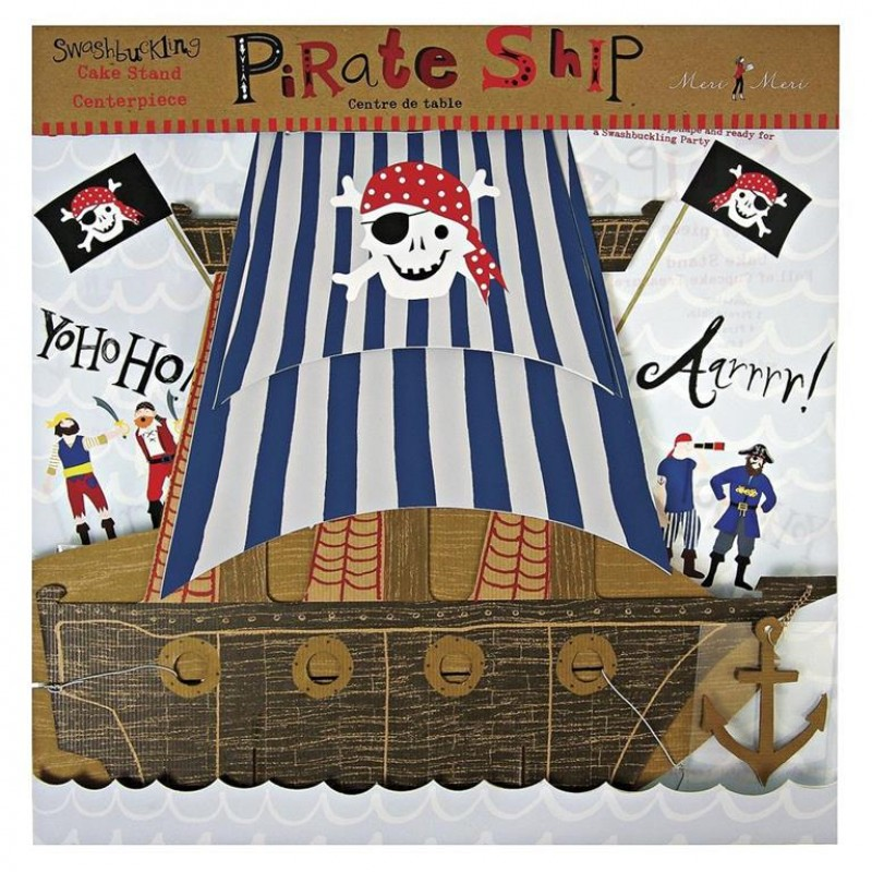 Ahoy There Pirate Ship Centrepiece - Cake Stand by Meri Meri