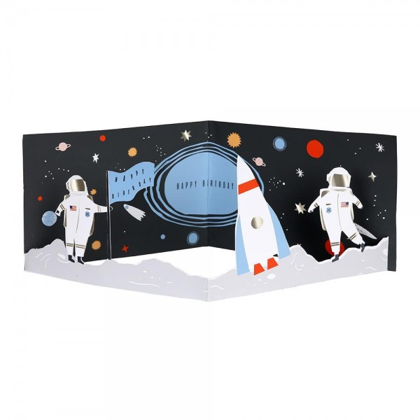 To The Moon Happy Birthday Concertina Card