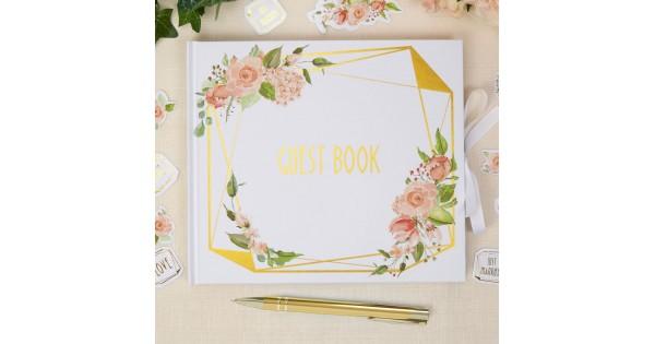 Neviti Guest Book Geo Blush