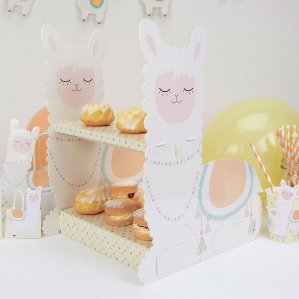 Llama Love Cupcake Stand - 2 Tier Cake Stand