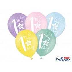 My 1st Birthday Pastel Balloon Mix