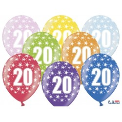 20th Birthday Metallic Balloons