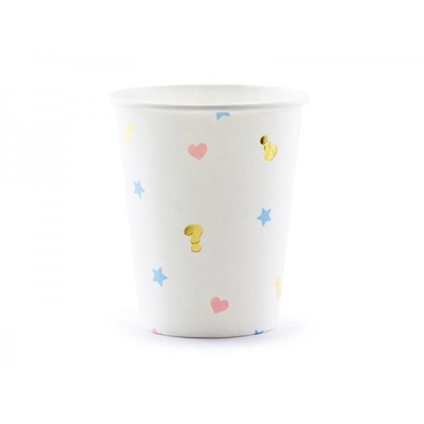 Gender Reveal Paper Cups - 6 Pack