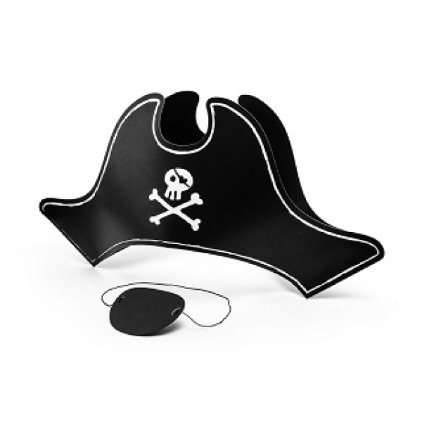 Pirates Party Hat and Eye Patch