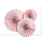 Dusty Rose Pink Decorative Paper Rosettes