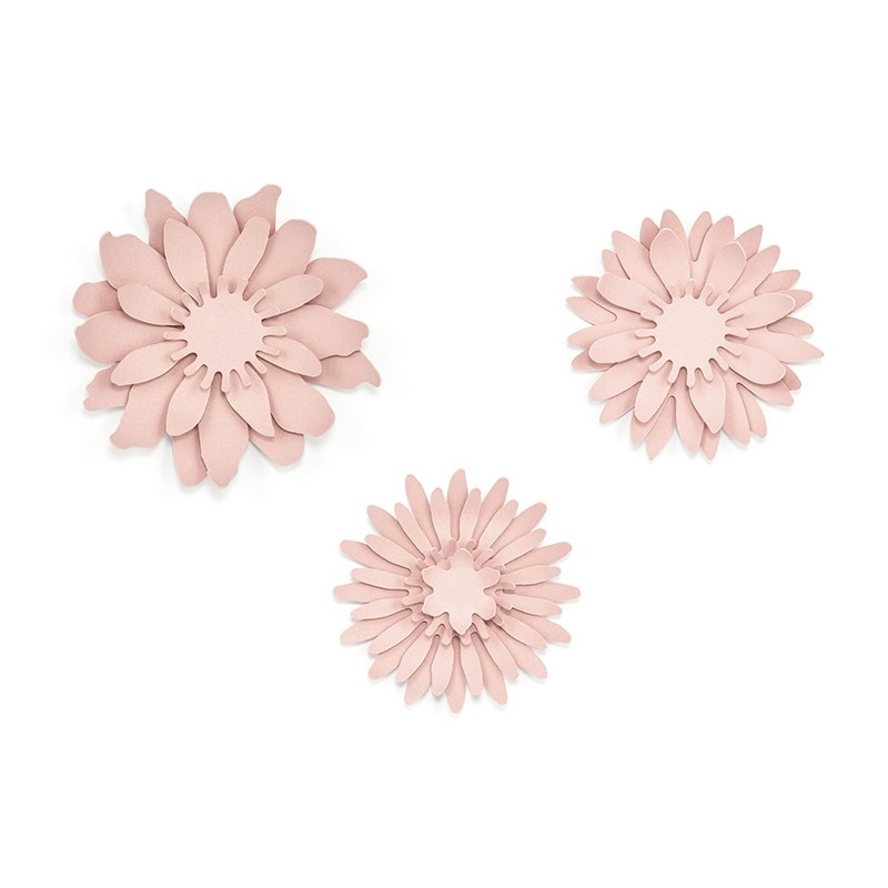 Powder Pink Paper Flowers Kit Rustic Collection