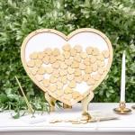 Wooden Heart Drop Frame Guest Book