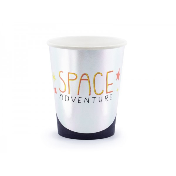 Space Party Adventure Paper Cups - 6 Pack