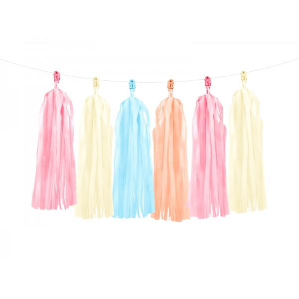 Tassel Garland Kit - Cream, Peach, Pink and Blue