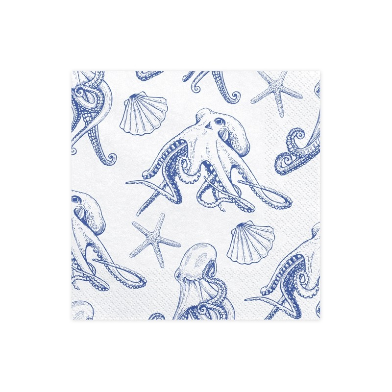 Octopus Paper Napkins Ahoy