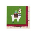 Boho Festive Llama Paper Napkins - 20 pack