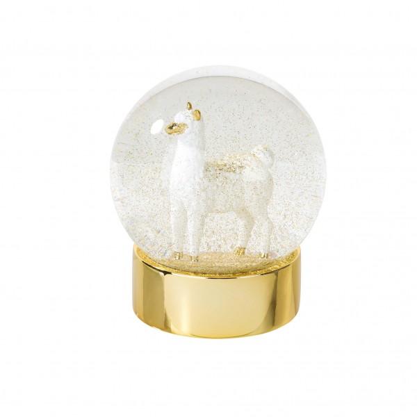 Boho Gold Glitter Llama Snowglobe