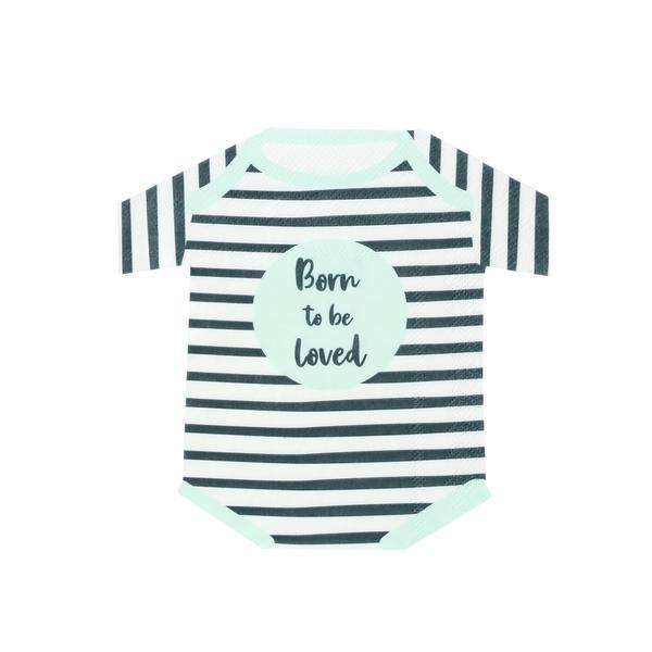 Born to be Loved Babygrow Shaped Paper Napkins
